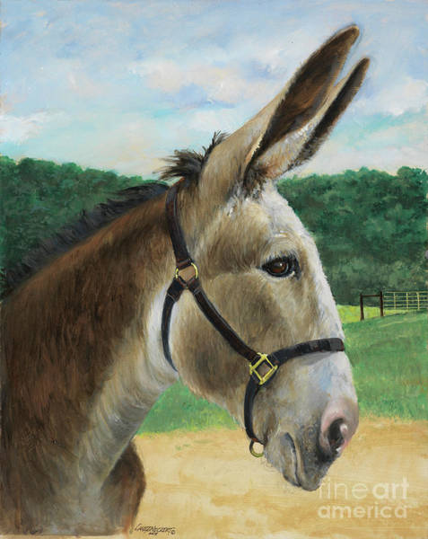 Donkey Painting - 2 Steps by Don Langeneckert