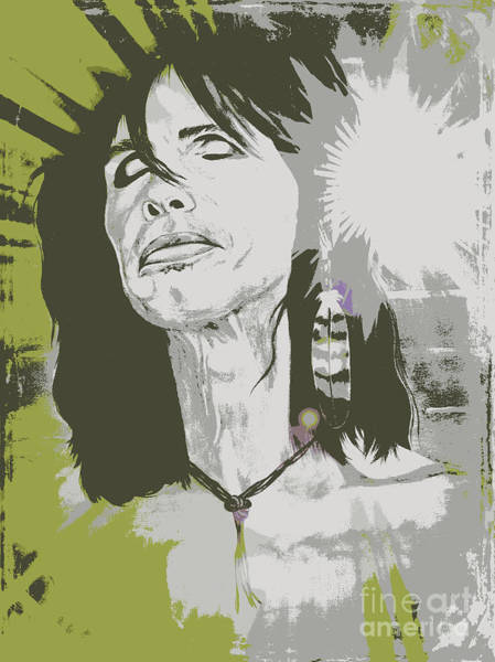 Wall Art - Painting - Steven Tyler  by Jeepee Aero