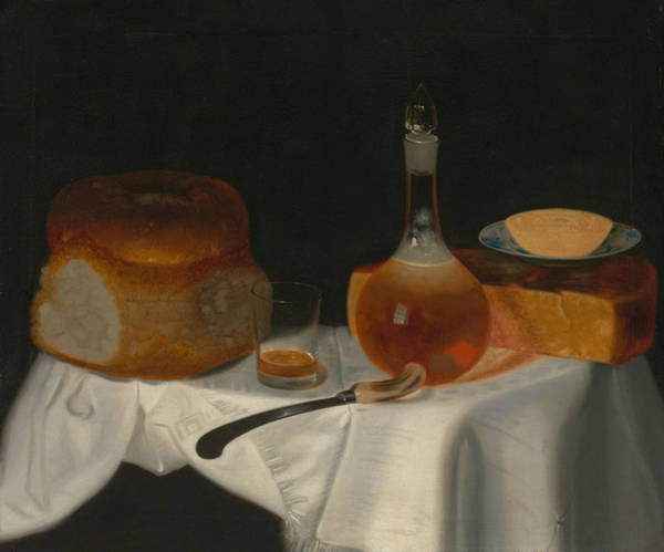 Wall Art - Painting - Still Life Of Bread, Butter And Cheese by George Smith