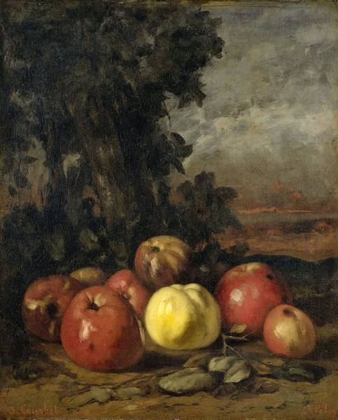 Food Groups Painting - Still Life With Apples, Gustave Courbet, 1871 - 1872 by Gustave Courbet