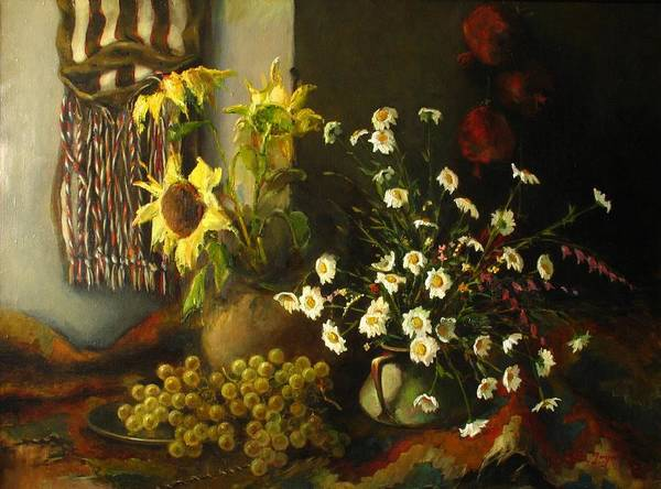 Painting - Still-life With Sunflowers by Tigran Ghulyan