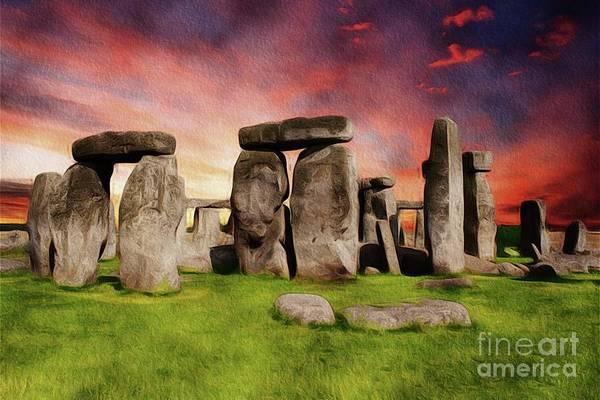 Wall Art - Painting - Stonehenge by John Springfield