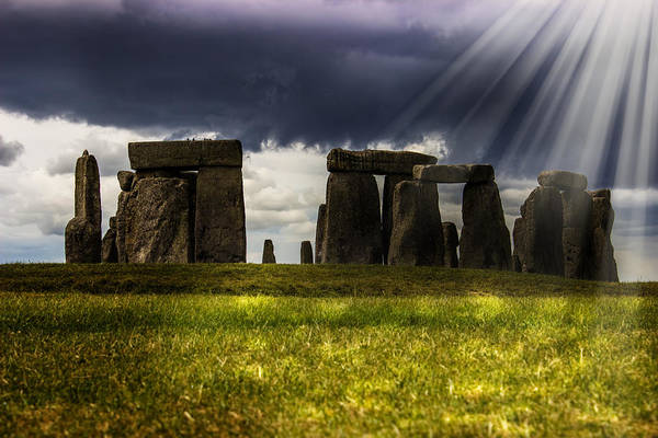 Beam Of Light Photograph - Stonehenge by Martin Newman