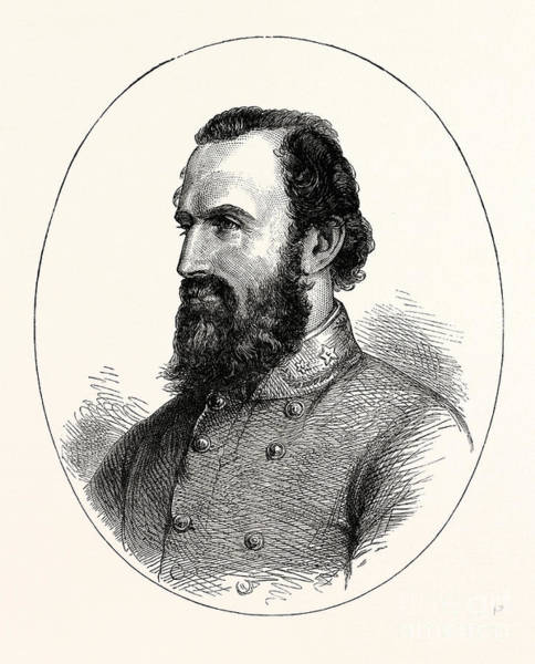 Confederate Soldier Drawing - Stonewall Jackson, by American School