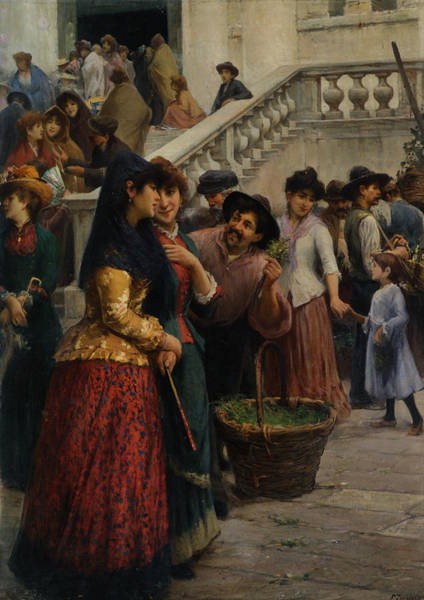 Fausto Zonaro Painting - Street And Market Genre Scenes by MotionAge Designs