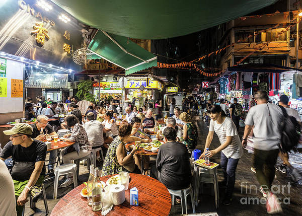 Photograph - Street Food In Temple Street Night Market In Hong Kong by Didier Marti