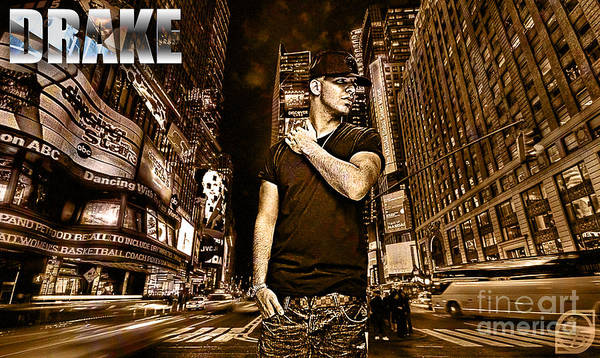 Drake Wall Art - Digital Art - Street Phenomenon Drake by The DigArtisT