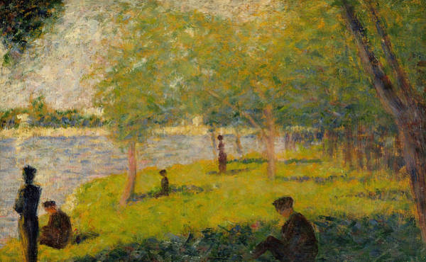 River Seine Painting - Study For Sunday Afternoon On The Island Of La Grand Jatte by Georges Pierre Seurat