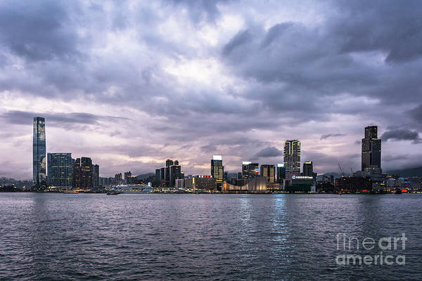 Photograph - Stunning Sunset Over Kowloon In Hong Kong by Didier Marti
