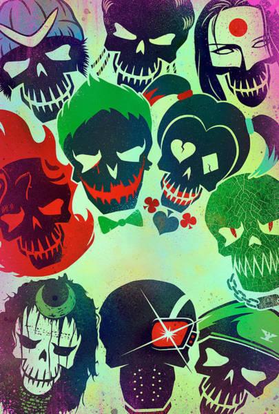Supervillain Digital Art - Suicide Squad 2016 by Geek N Rock