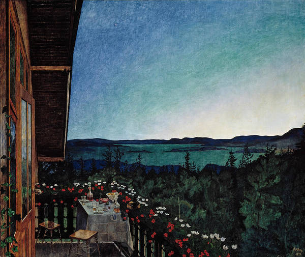 Wall Art - Painting - Summer Night by Harald Sohlberg