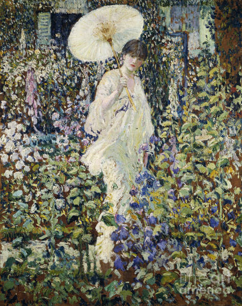 Full Bloom Painting - Sun And Wind by Frederick Carl Frieseke