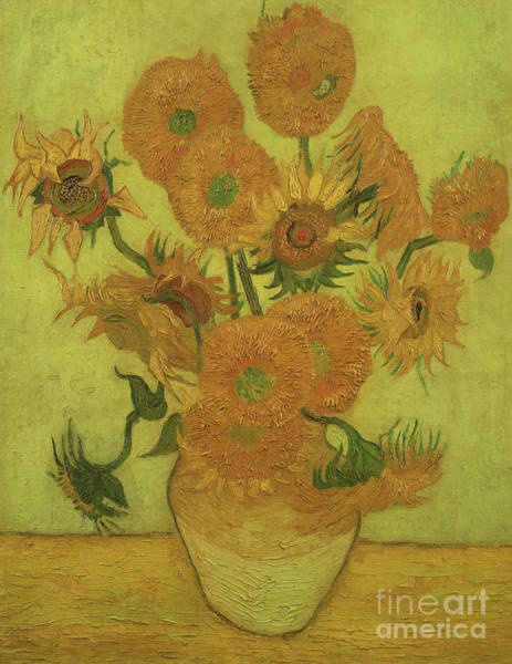 Wall Art - Painting - Sunflowers, 1889 by Vincent Van Gogh