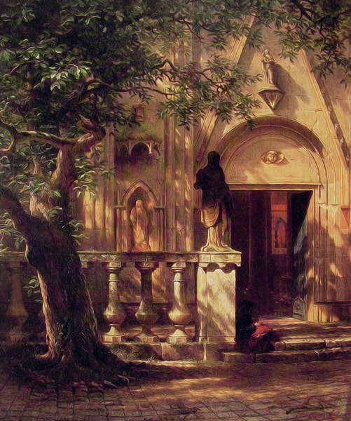 Wall Art - Painting - Sunlight And Shadow by Albert Bierstadt