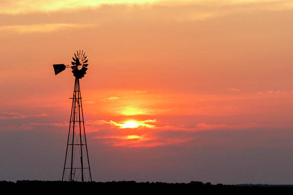 Photograph - Sunrise And Windmill 01 by Rob Graham