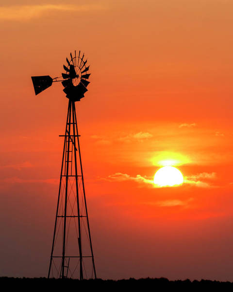 Photograph - Sunrise And Windmill 02 by Rob Graham
