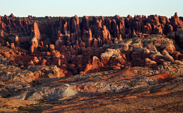 Photograph - Sunrise At Fiery Furnace In Arches National Park by Pierre Leclerc Photography