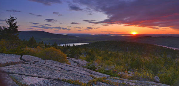 Wall Art - Photograph - Sunset From Cadillac Mountain by Stephen  Vecchiotti