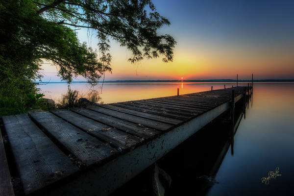 Great Lakes Photograph - Sunrise Over Cayuga Lake by Everet Regal