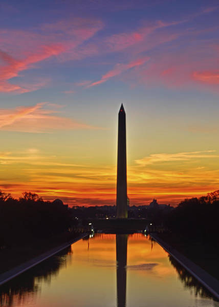 Photograph - Sunrise Washington Monument by Bill Dodsworth