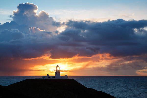 Wall Art - Photograph - Sunset At Strumble Head Lighthouse by Ian Middleton