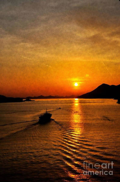 Photograph - Sunset In Dubrovnik - Croatia by Doc Braham