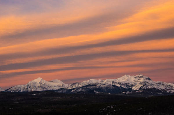 Photograph - Sunset In Glacier National Park by Jedediah Hohf