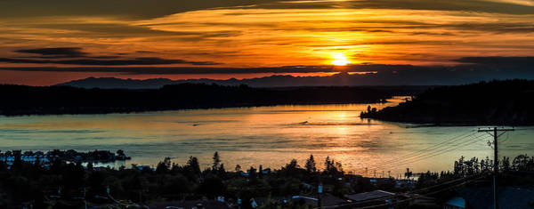 Photograph - Sunset Over Hail Passage On The Puget Sound by Rob Green