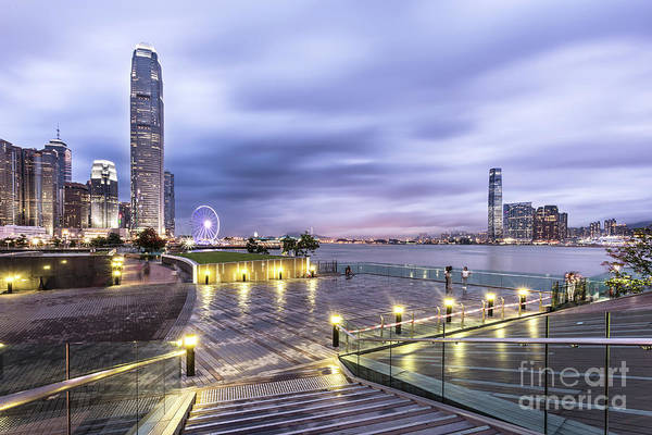 Photograph - Sunset Over Hong Kong by Didier Marti
