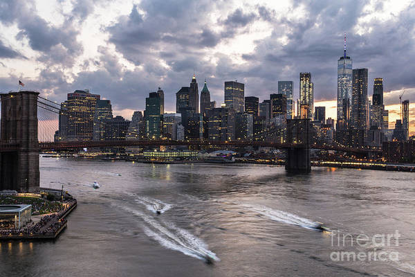 Photograph - Sunset Over New York City by Didier Marti