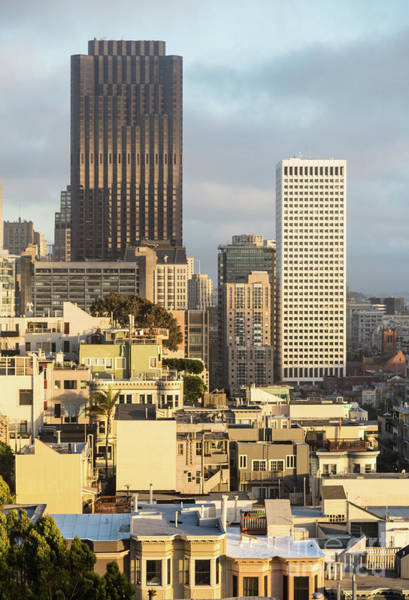 Photograph - Sunset Over San Francisco Financial District In The Usa by Didier Marti