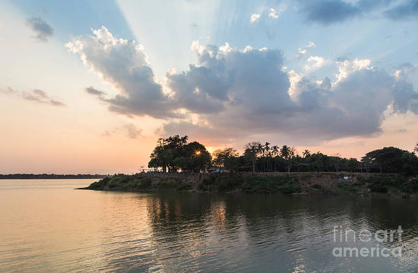 Photograph - Sunset Over The Mekong River by Didier Marti