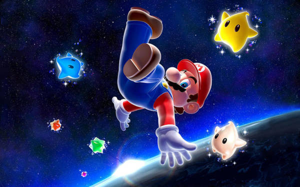 Wall Art - Digital Art - Super Mario Galaxy by Mery Moon