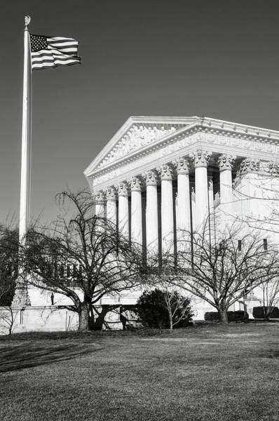 Photograph - Supreme Court Building In The Winter by Brandon Bourdages
