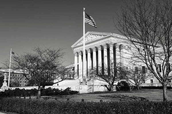 Photograph - Supreme Court Building In Washington Dc by Brandon Bourdages