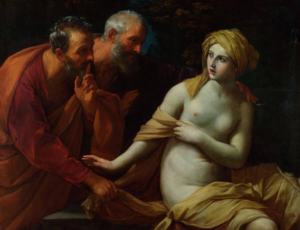 Bad Hair Wall Art - Painting - Susannah And The Elders by Guido Reni