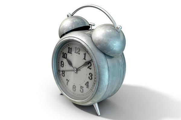 Wake Digital Art - Table Clock by Allan Swart