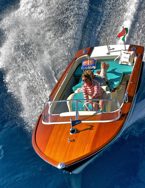 Photograph - Tahoe Riva Runabout Aerial by Steven Lapkin