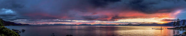 Photograph - Tahoe Sunset Panorama by Martin Gollery