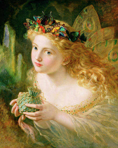 Wall Art - Painting - Take The Fair Face Of Woman by Sophie Anderson