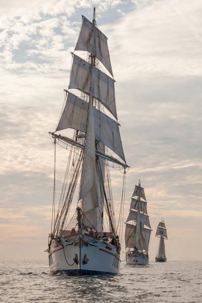 Parade Of Ships Art Print