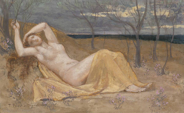 Painting - Tamaris by Pierre Puvis de Chavannes