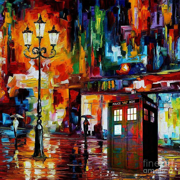 3d Painting - Tardis Art Painting by Koko Priyanto