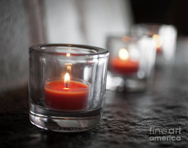 Wall Art - Photograph - Tealights by Kati Finell