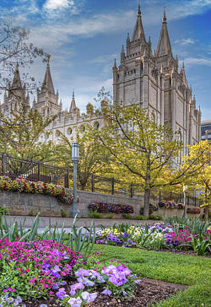 Wall Art - Photograph - Temple Square Salt Lake City Utah by Douglas Pulsipher