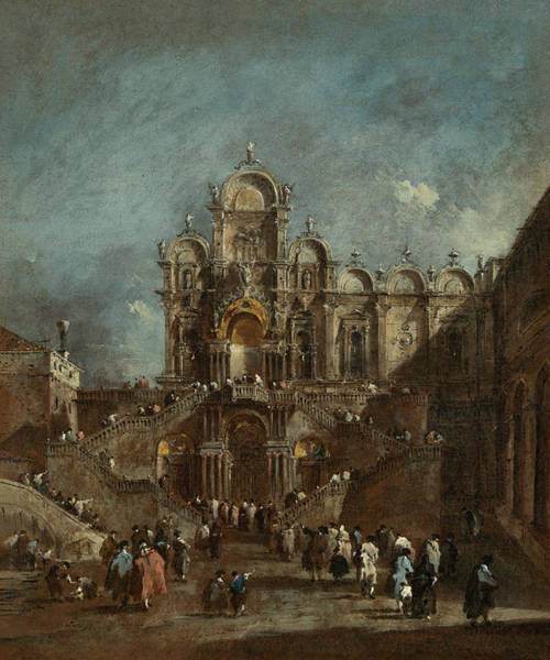 Painting - Temporary Tribune In The Campo San Zanipolo, Venice by Francesco Guardi