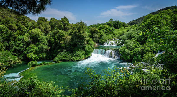 Photograph - Terraced Turqouise Waterfalls Of Skradinski Buk At Krka National Park In Croatia by Global Light Photography - Nicole Leffer