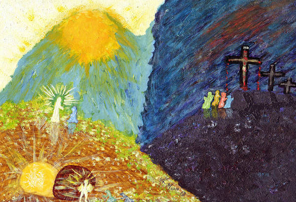 Painting - Thank God For Good Friday And Easter Sunday by Carl Deaville