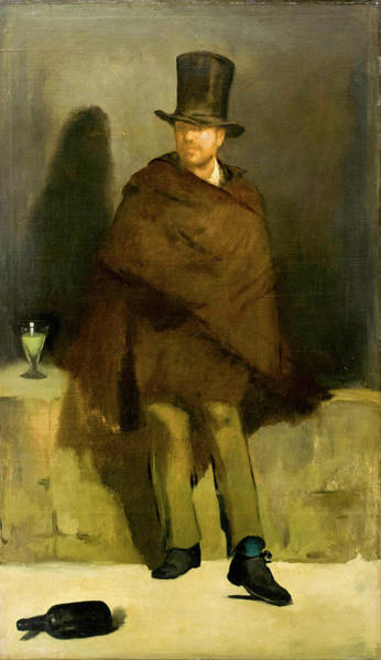 Painting - The Absinthe Drinker by Edouard Manet