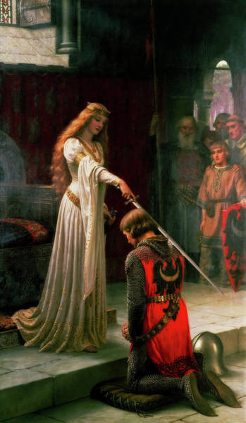 Wall Art - Painting - The Accolade by Edmund Leighton